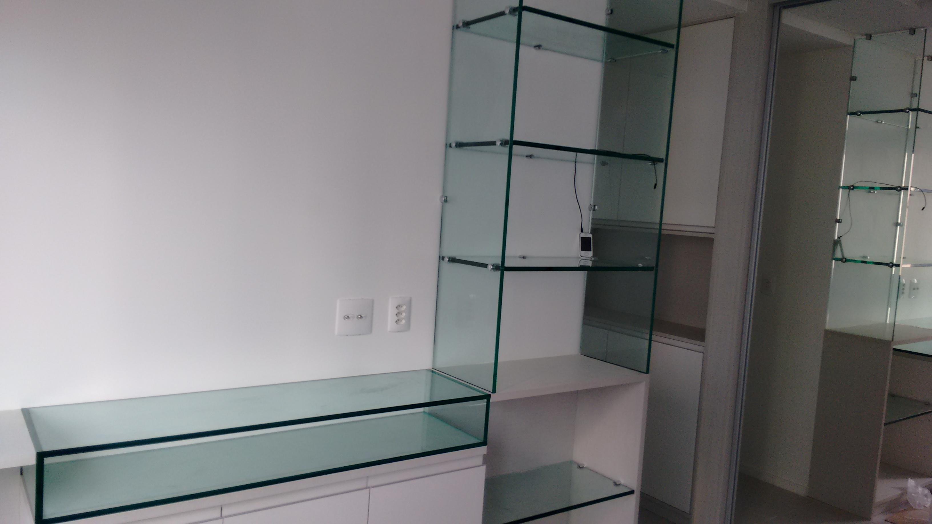 Estante De Vidro Temperado : Produtos vidros espelhos box prateleiras entre outros